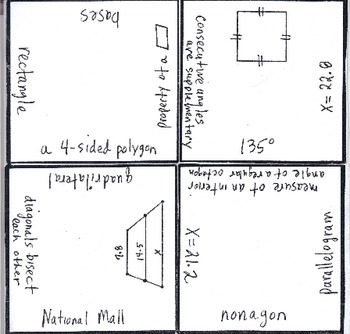 Math Squares - Properties of Quadrilaterals