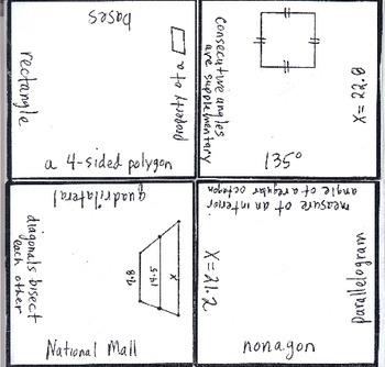 Math Squares - Properties of Quadrilaterals