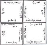 Math Squares - Slope, Parallel and Perpendicular Lines