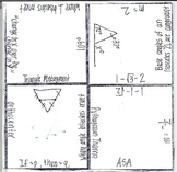 Math Squares - Special Right Triangles,