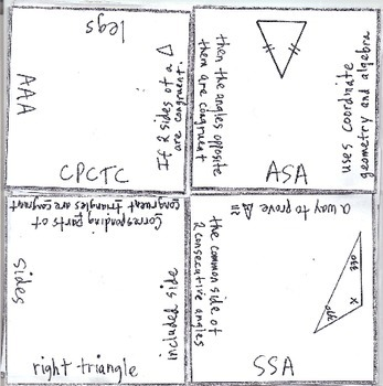 Math Squares - Triangle Congruence
