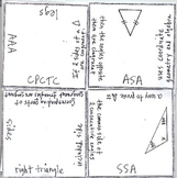 Math Squares - Triangle Congruence