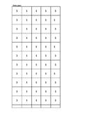 Math---Stamp Game Manipulatives (black and white print on