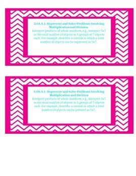 Math Standard Cards