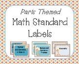 Math Standard Labels- Paris Theme!