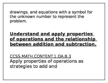 Math Standard Posters