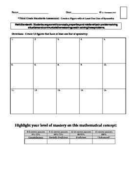 Math Standards Assessments Set #4 Third Grade