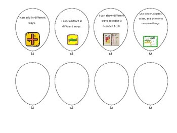 Math Standards Based Achievment Bulletin Board Set Kindergarten