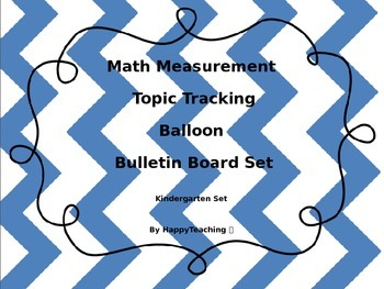 Math Standards Based Achievment Bulletin Board Set Kindergarten