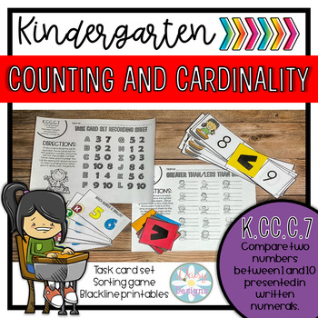 Math Standards-Based Activity Pack - K.CC.C.7 - Greater Than and Less Than