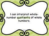 Math Standards {I Can Statements}