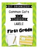 Math Standards Labels- First Grade