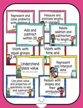 Math Standards Posters - 2nd Grade