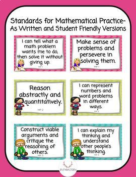 Math Standards Posters