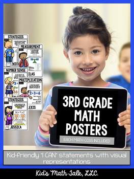 Math Standards Posters - 3rd Grade Edition