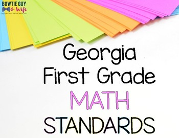 Math Standards for First Grade Georgia Standards of Excellence