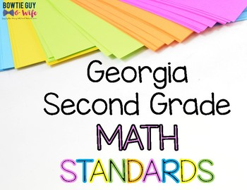 Math Standards for  Second Grade Georgia Standards of Excellence