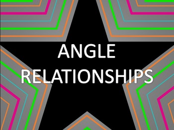Math Star Review Game - Angle Relationships