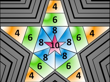 Math Star Review Game - Multi-Step Equations