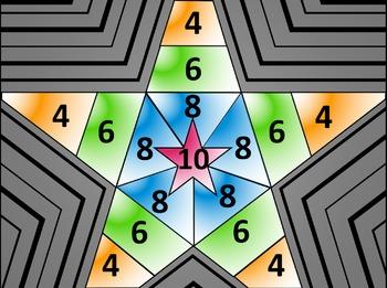 Math Star Review Game - Pythagorean Theorem & Distance Formula