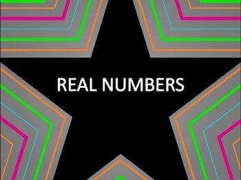 Math Star Review Game - Real Numbers