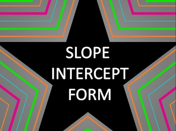 Math Star Review Game - Slope Intercept Form