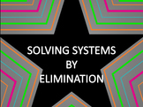 Math Star Review Game - Solving Systems by Elimination