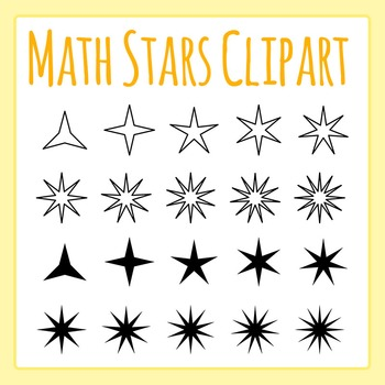 Math Stars - Number of Points - Clip Art Set for Commercial Use