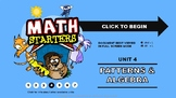 Math Starters Unit 4 - Patterns and Algebra