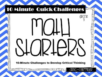 Math Starters: Hands-on Challenges Focused on Area and Perimeter