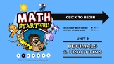 Math Starters Unit 2 - Decimals and Fractions