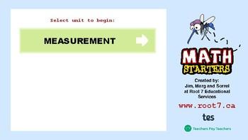 Math Starters Unit 5 - Measurement