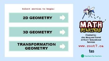 Math Starters Unit 6 - Geometry