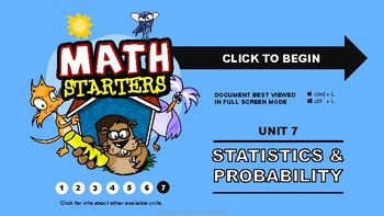Math Starters Unit 7 - Statistics and Probability