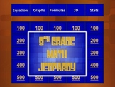 8th Grade Math Standardized Test Prep Jeopardy® Game