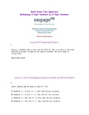 Math State Questions for Multiplying 2-Digit Number by a 2