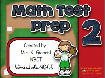 Math State Test Practice 2 for Smartboard - SMART Notebook