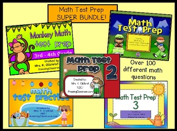 Math State Test Prep Bundle   5 Promethean ActivInspire Flipchart Lessons
