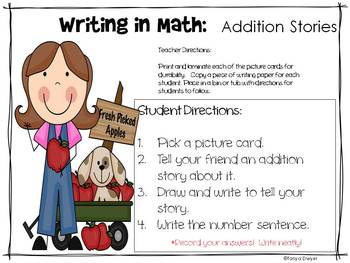 Math Station Activities:  Addition