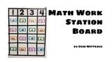 Math Station Board