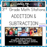 Math Stations 3rd Grade Addition and Subtraction 3.2C 3.4A 3.4B 3.4C 3.5A 3.7C