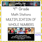 Math Station Boards 4th Grade Multiplying Whole Numbers