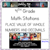 Math Station Boards 4th Grade Place Value of Whole Numbers