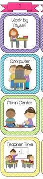 Math Station Chart