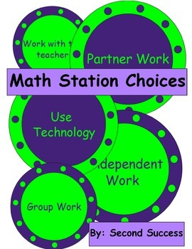 Math Station Choices