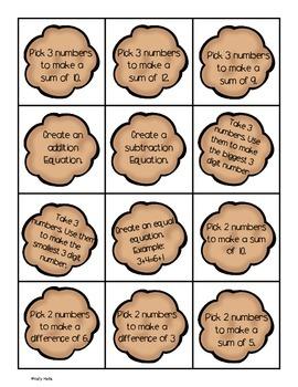 Math Station: Task Cards