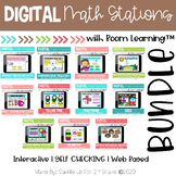 Math Station Digital Task Cards BUNDLE | Boom Cards™ | Dis