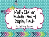Math Station Display- Bright Chevron, Bulletin Board Displ
