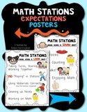 Math Stations {Expectations Poster Set} for Kindergarten and First Grade