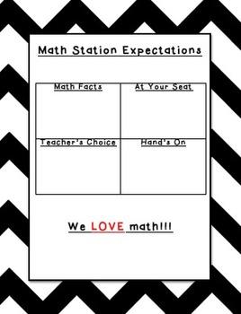 Math Station Expectations (editable)